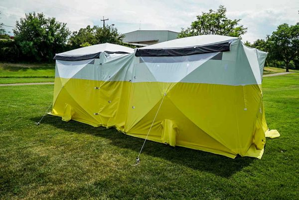 Image of the All-Weather Fiber Splicing Tents Connected
