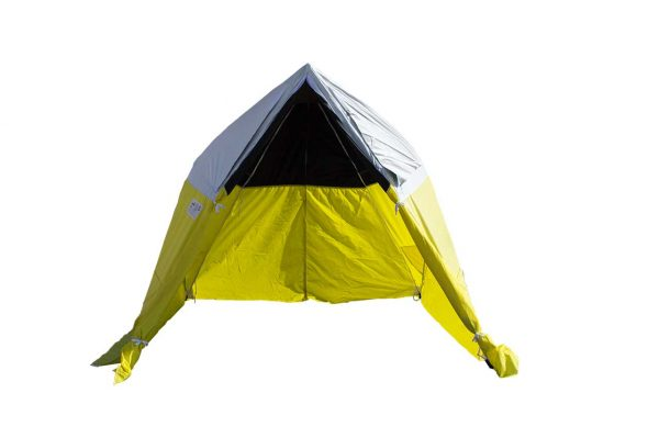 Image of the All-Weather Fiber to the Home Tent spread open