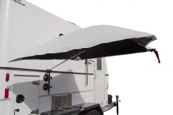 Image of the SolarShade™ Umbrella on a vehicle