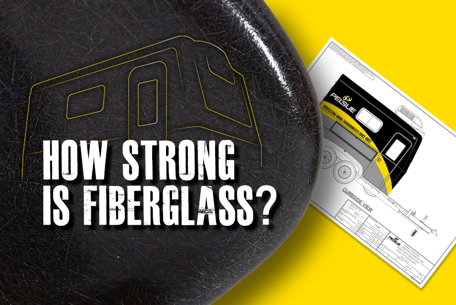 """Graphic with the caption """"How strong is fiberglass?"""""""