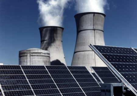 Renewable Energy sources of solar panels and buring facilities